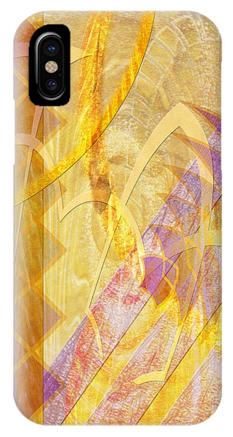 Gold Fusion IPhone X Case featuring the digital art Gold Fusion by John Beck