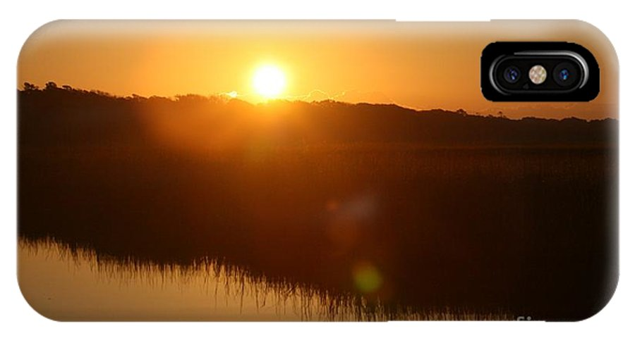 Glow IPhone X Case featuring the photograph Gold Morning by Nadine Rippelmeyer