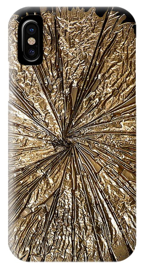 Abstract IPhone X Case featuring the painting Gold Spin by Rick Silas