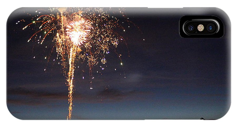 Fireworks IPhone X Case featuring the photograph Golden Bouquet by Mina Thompson