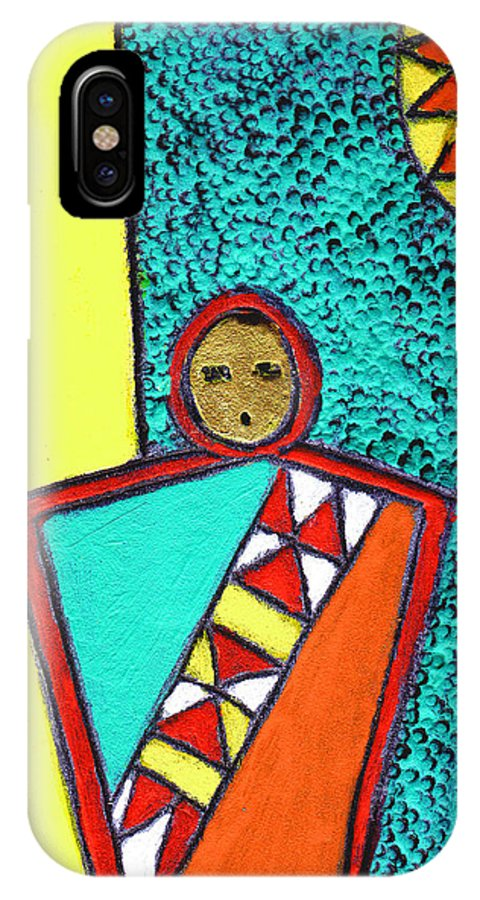 Southwest IPhone X Case featuring the painting Golden Child Of The South West by Wayne Potrafka