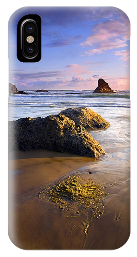 Beach IPhone Case featuring the photograph Golden Coast by Mike Dawson