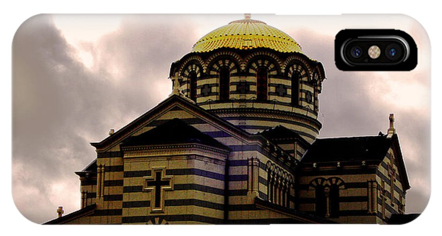 Gold IPhone X Case featuring the photograph Golden Dome by Jeff Barrett