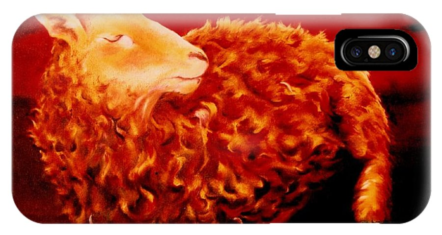 Sunset IPhone Case featuring the painting Golden Fleece by Mark Cawood