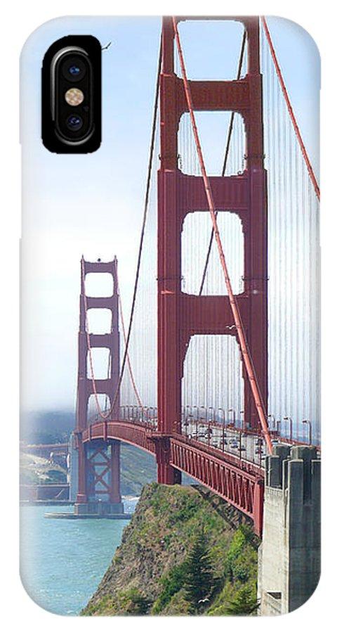 Landmarks IPhone X Case featuring the photograph Golden Gate Bridge by Mike McGlothlen