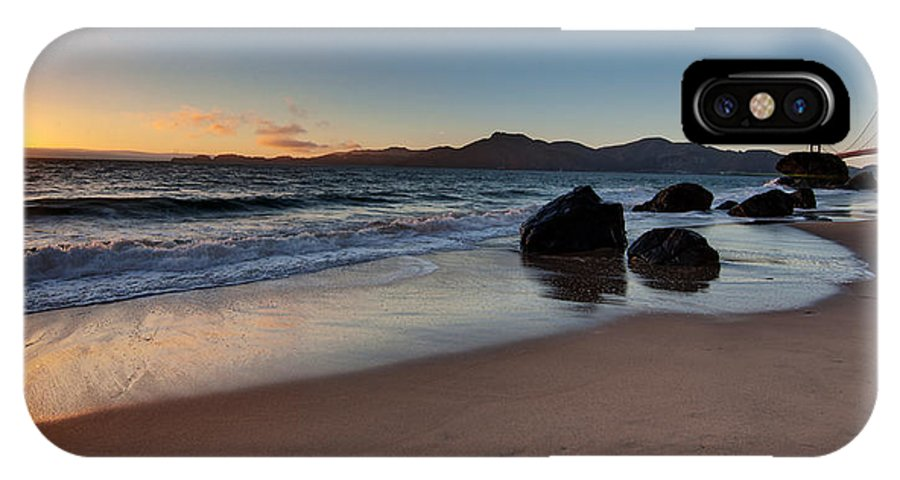 Golden Gate IPhone X Case featuring the photograph Golden Gate Sunset by Mike Reid
