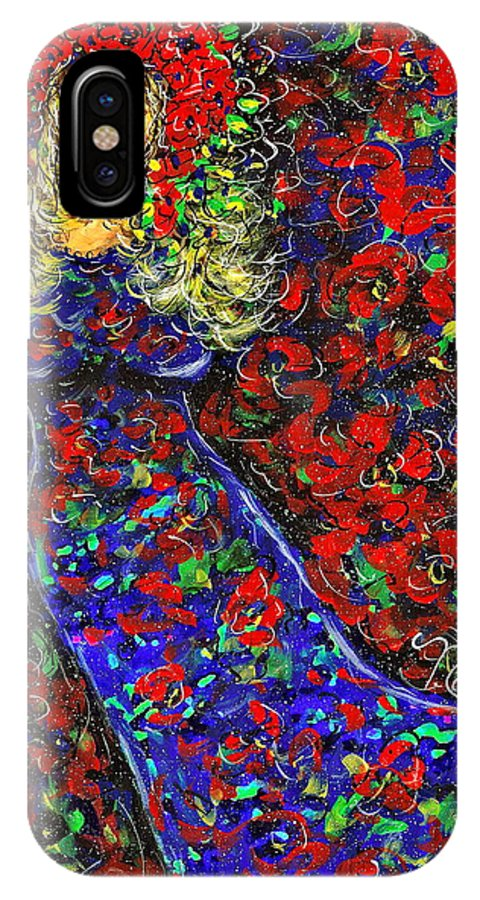 Woman IPhone Case featuring the painting Golden Girl by Natalie Holland