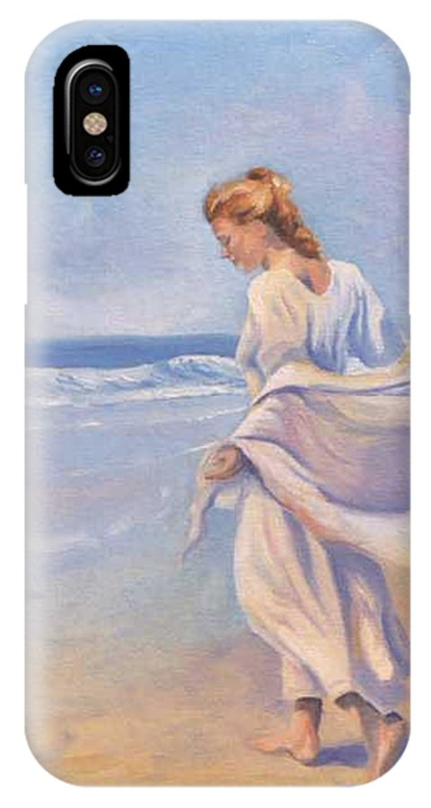 Beach IPhone X Case featuring the painting Golden Girls by Jay Johnson