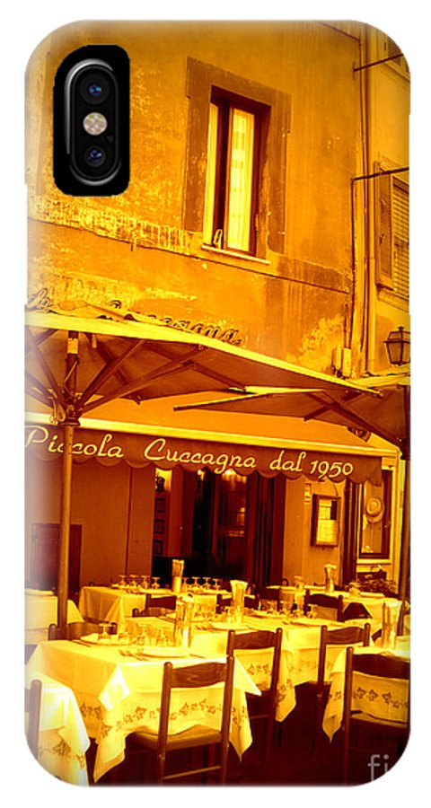 Italy IPhone X Case featuring the photograph Golden Italian Cafe by Carol Groenen