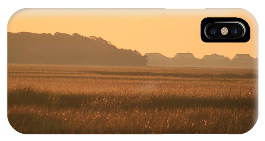 Marsh IPhone Case featuring the photograph Golden Marshes by Nadine Rippelmeyer