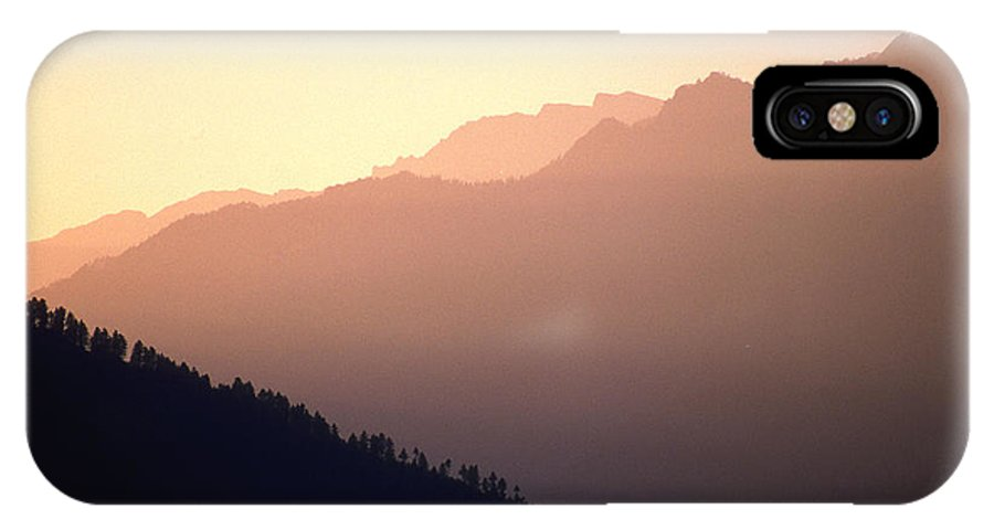 Langtang IPhone X Case featuring the photograph Golden Mountains by Patrick Klauss