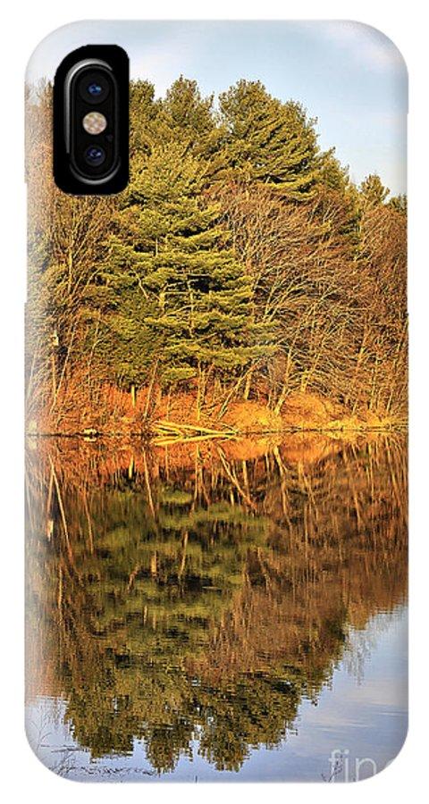 Light IPhone X Case featuring the photograph Golden Natural Light by Deborah Benoit