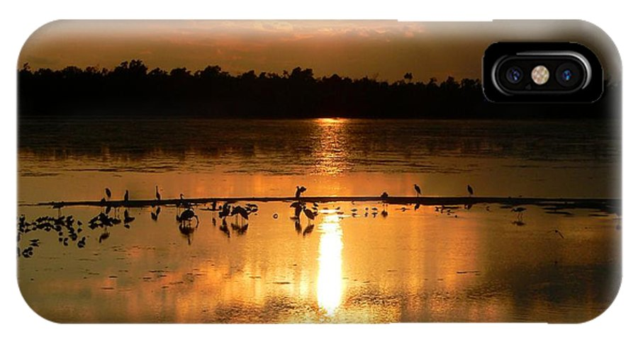 Sunsets IPhone X Case featuring the photograph Golden Nights by Rosalie Scanlon