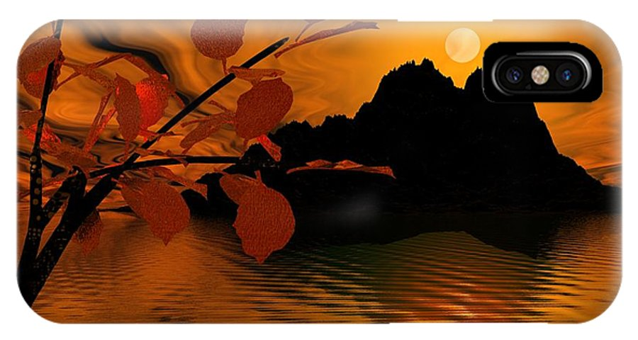 Landscape IPhone Case featuring the digital art Golden Slumber Fills My Dreams. by David Lane