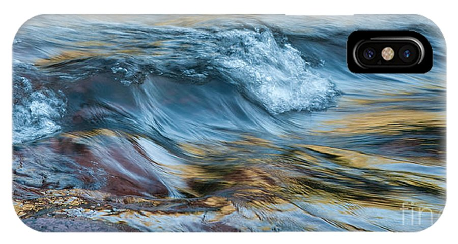 Rivers IPhone X Case featuring the photograph Golden Strands Of Water by Sandra Bronstein