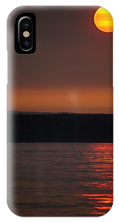 Sunset IPhone X Case featuring the photograph Golden Sun by Karen Ulvestad