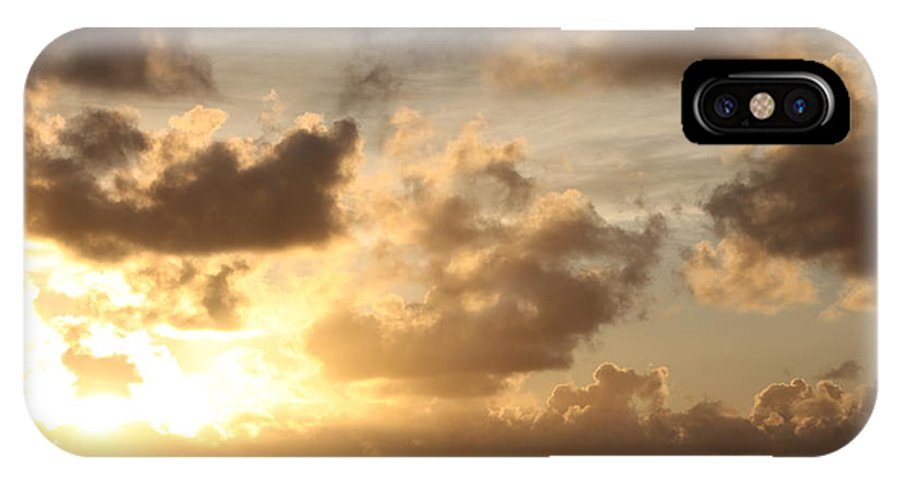 Sunrise IPhone Case featuring the photograph Golden Sunrise On Kauai by Nadine Rippelmeyer