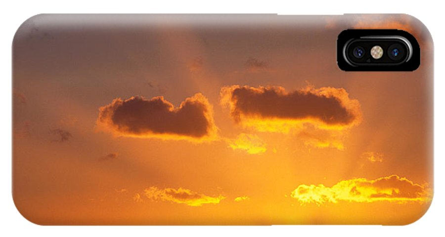 C1726 IPhone X Case featuring the photograph Golden Sunset by Carl Shaneff - Printscapes
