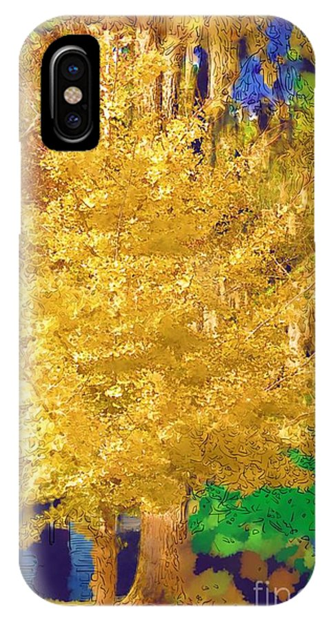 Tree IPhone X Case featuring the photograph Golden Tree by Donna Bentley