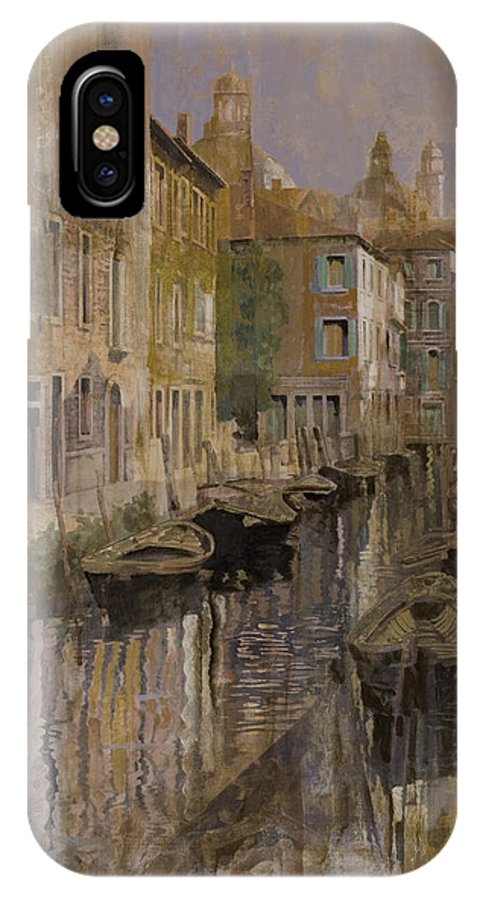 Venice IPhone X Case featuring the painting Golden Venice by Guido Borelli