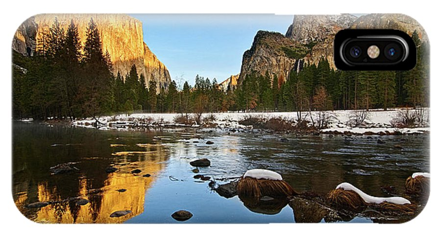 Yosemite IPhone X Case featuring the photograph Golden View - Yosemite National Park. by Jamie Pham