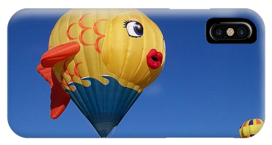 Hot Air Balloon Festival IPhone X Case featuring the photograph Goldie The Goldfish by Adrienne Wilson