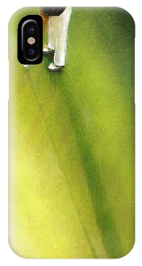 Golf IPhone X Case featuring the painting Golf In Spain Castello Masters 03 by Miki De Goodaboom