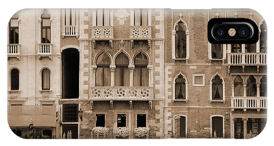 Gondola IPhone Case featuring the photograph Gondola Crossing Grand Canal by Donna Corless