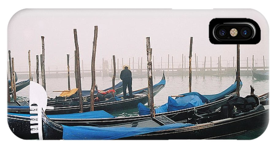 Landscape IPhone X Case featuring the photograph Gondolas by Kathy Schumann