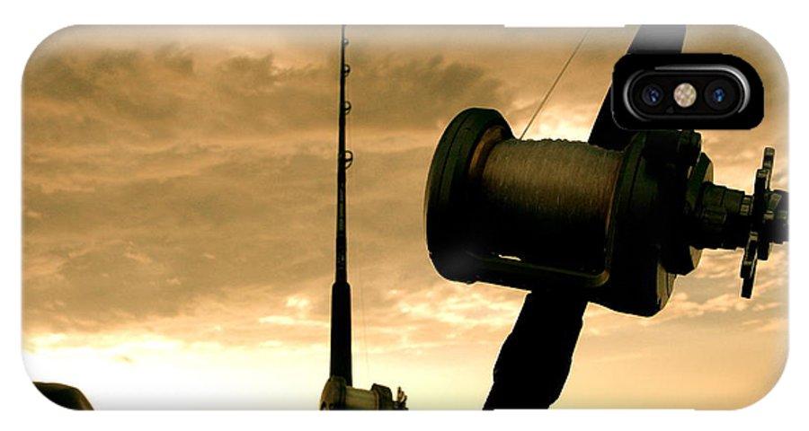 Fishing IPhone X / XS Case featuring the photograph Gone Fishin' by Ariane Moshayedi