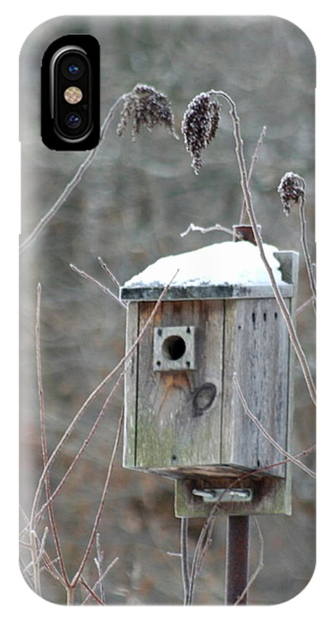 Bird House IPhone X Case featuring the photograph Gone South by Diane Merkle