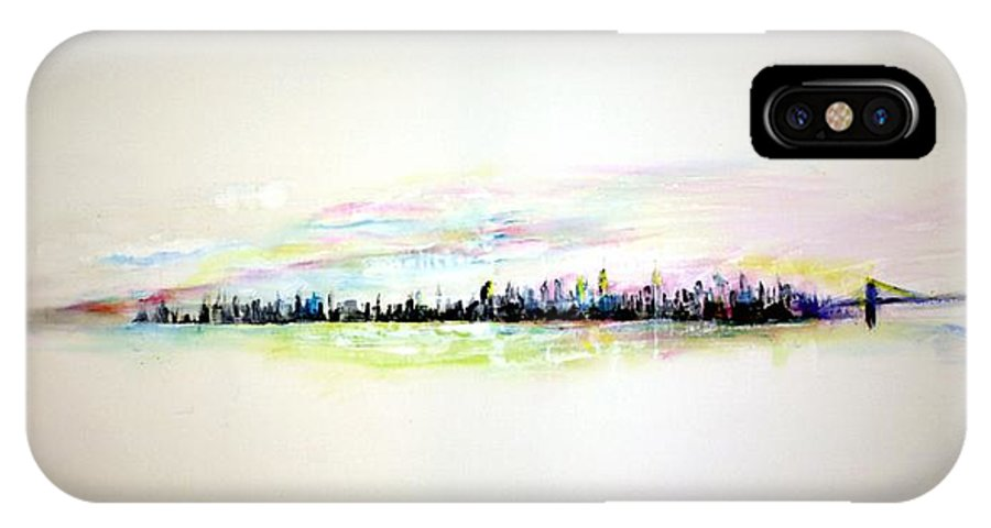 New York IPhone X Case featuring the painting Good Morning America by Jack Diamond