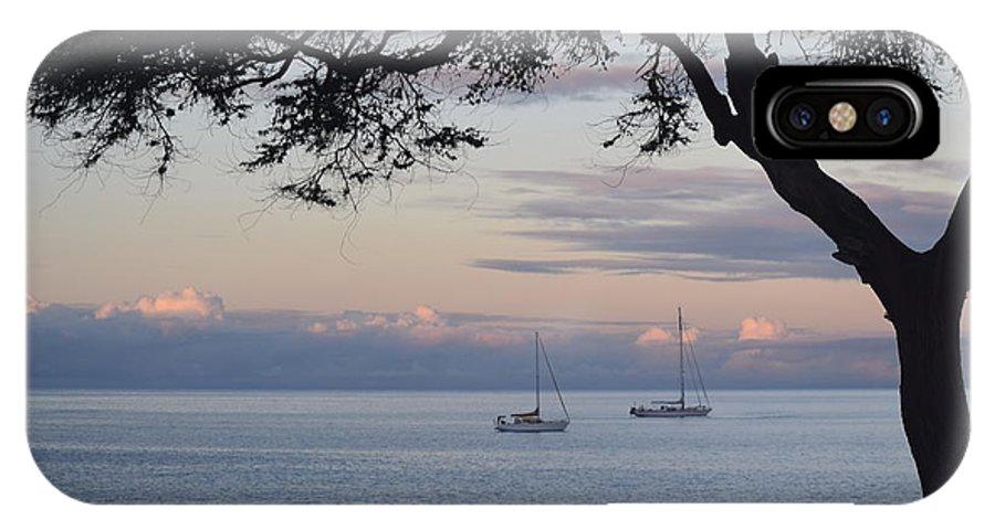 Boats IPhone X Case featuring the photograph Good Morning Boats by Samantha Peel