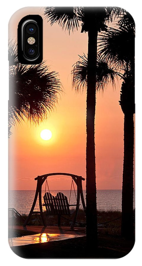 Sunrise IPhone X Case featuring the photograph Good Morning by Steven Sparks