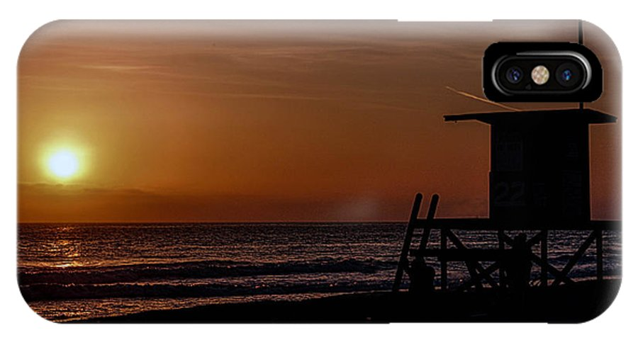 Newport Beach IPhone X Case featuring the photograph Good Night Newport Beach by Tommy Anderson