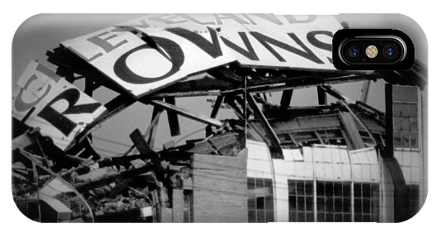 Cleveland IPhone X Case featuring the photograph Goodbye Cleveland Stadium by Kenneth Krolikowski