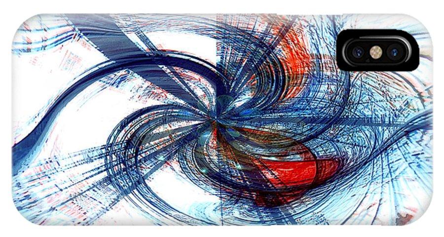 Abstract Art IPhone X Case featuring the digital art Goodbye Sky by Linda Sannuti