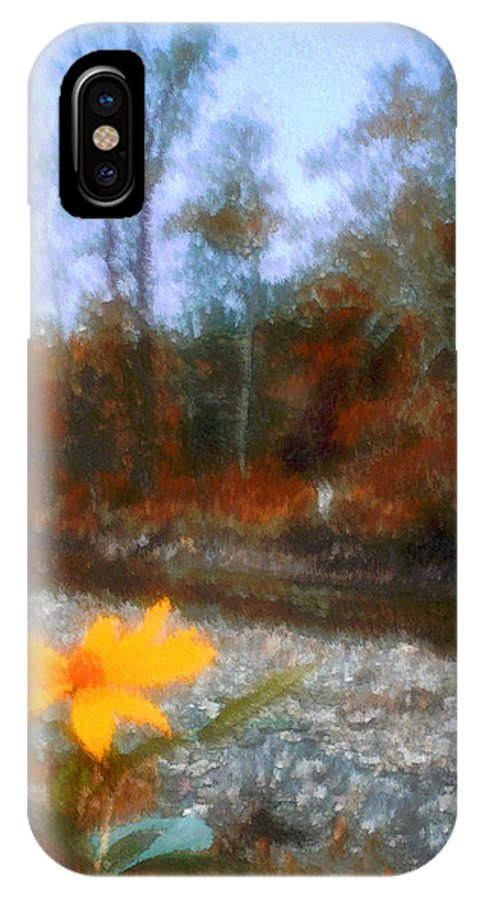 Autumn IPhone X Case featuring the photograph Goodbye Summer by Kenneth Krolikowski