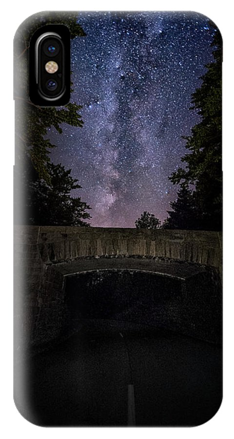 Maine IPhone X Case featuring the photograph Goodnight Acadia by Robert Fawcett