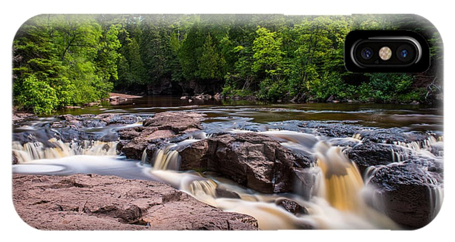 Upper Gooseberry Falls IPhone X Case featuring the photograph Goose Berry River Rapids by Paul Freidlund