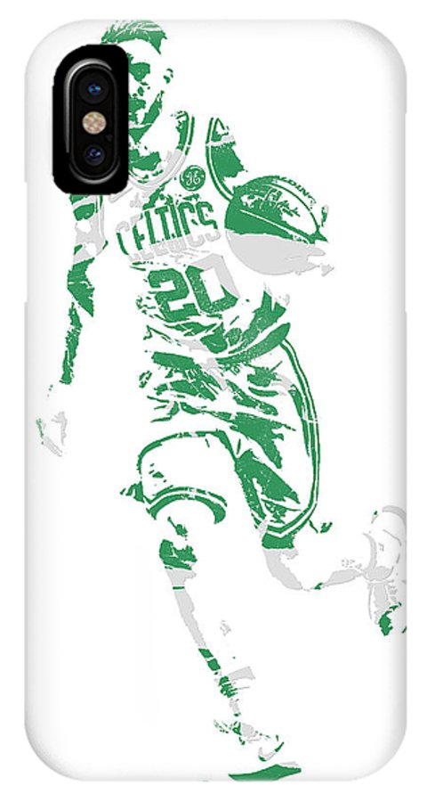 Gordon Hayward IPhone X Case featuring the mixed media Gordon Hayward Boston Celtics Pixel Art 10 by Joe Hamilton