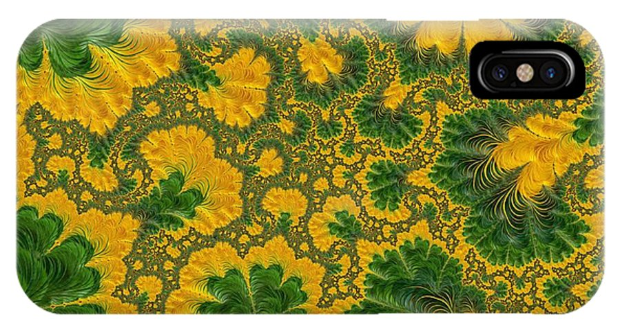 Fabric Design IPhone X Case featuring the photograph Gorgeous Fabric Design - Series Number Ten by Barbara Zahno