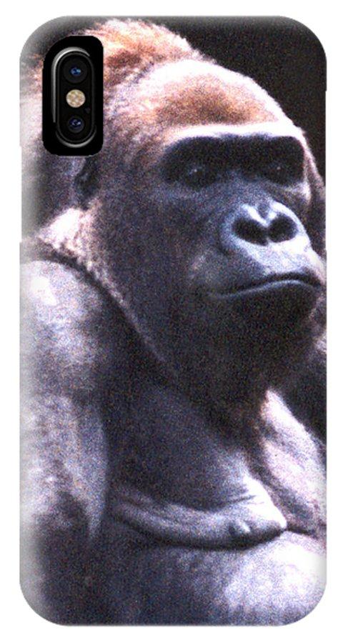 Gorilla IPhone X Case featuring the photograph Gorilla by Steve Karol