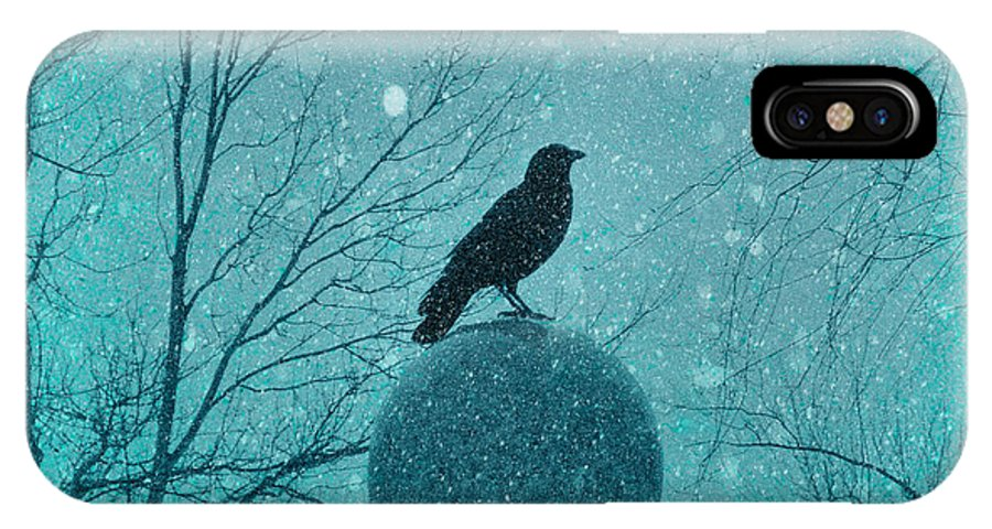 Snow Storm IPhone X Case featuring the photograph Goth Snow Globe by Gothicrow Images