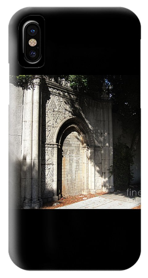 Gothic IPhone X / XS Case featuring the photograph Gothic Darkness. Old Gate by Sofia Metal Queen