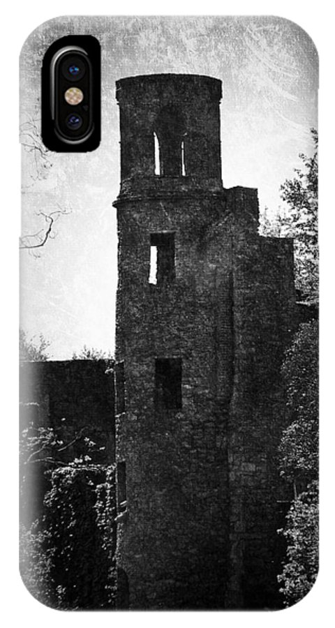 Irish IPhone X Case featuring the photograph Gothic Tower At Blarney Castle Ireland by Teresa Mucha