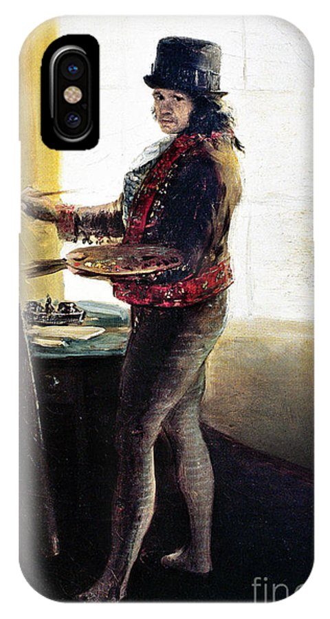 1790s IPhone X Case featuring the photograph Goya: Self-portrait by Granger