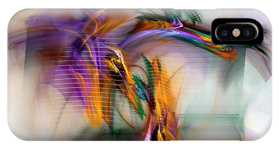 Graffiti IPhone X Case featuring the digital art Graffiti - Fractal Art by NirvanaBlues