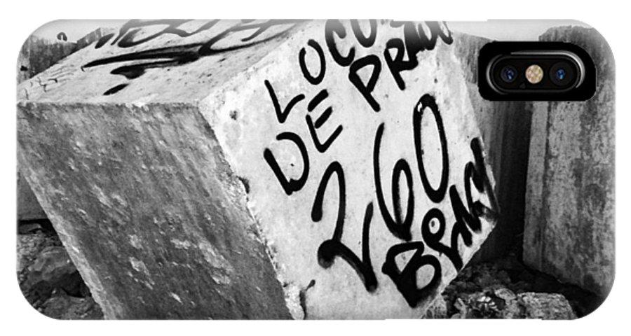 Cancun IPhone X Case featuring the photograph Graffiti Block by Anna Marie Jensen