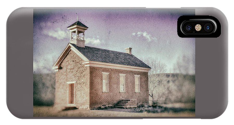 Grafton Utah IPhone X Case featuring the photograph Grafton Church Side Old Look by Mitch Johanson